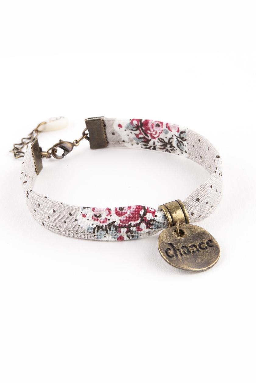 liberty, au sud, bracelet textile, bijou textile, bijou provençal, bijou du sud