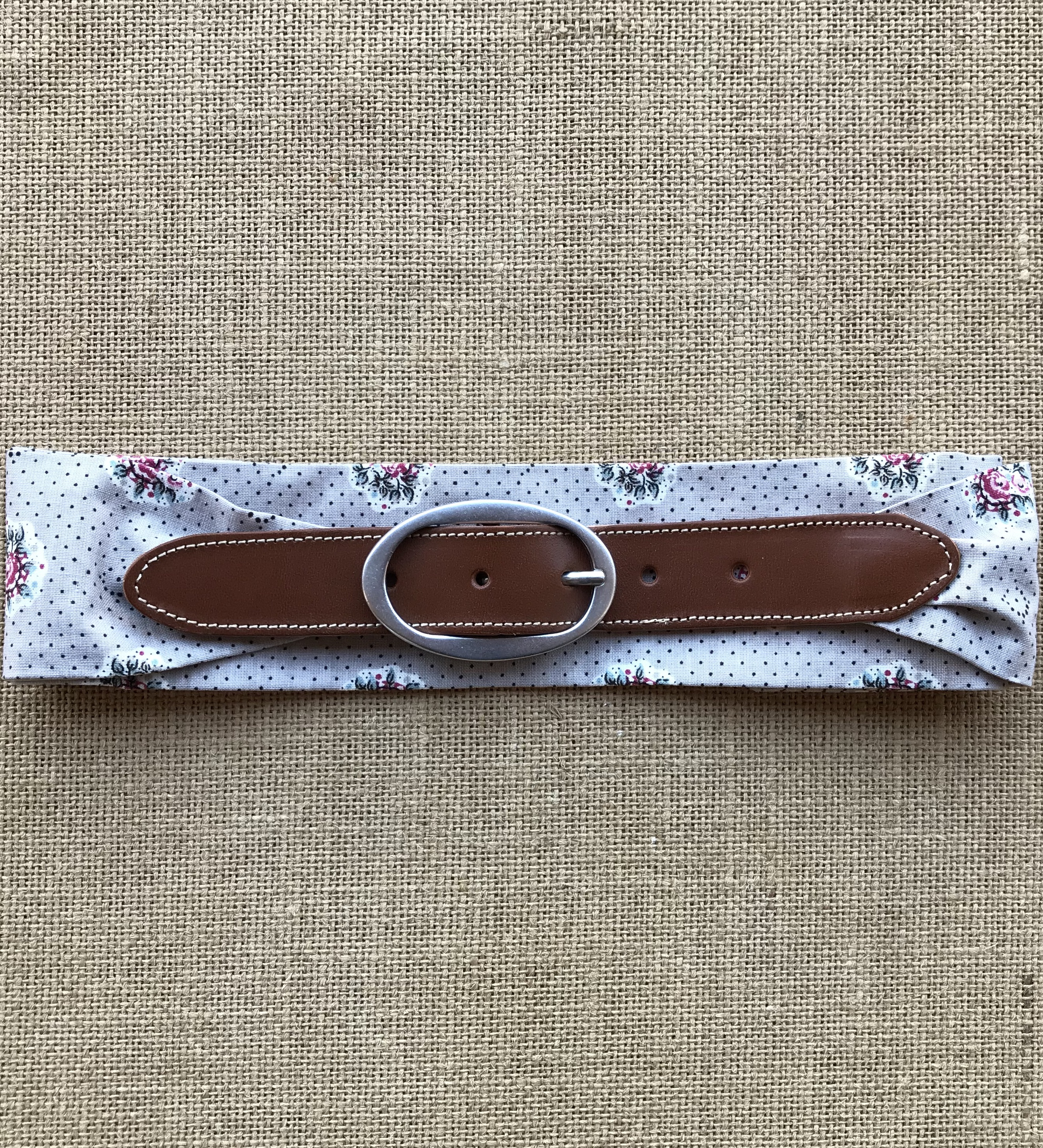 ceinture femme provence tissu provençal made in france cuir végétal