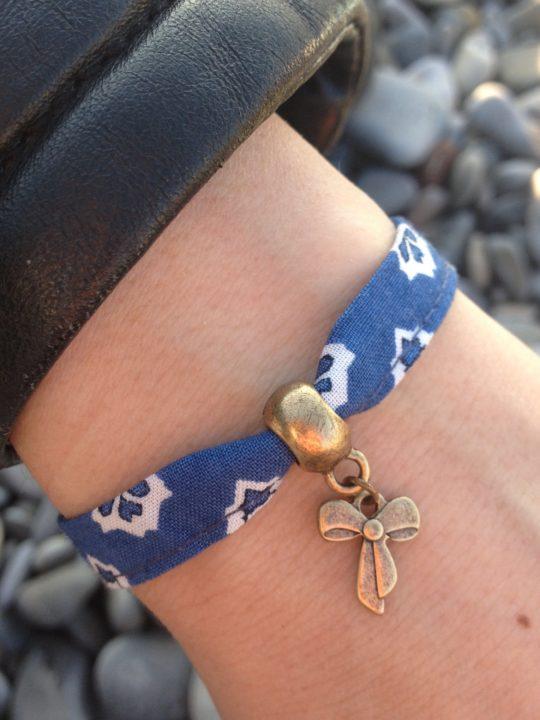 bracelet liberty bleu bohème hippie chic