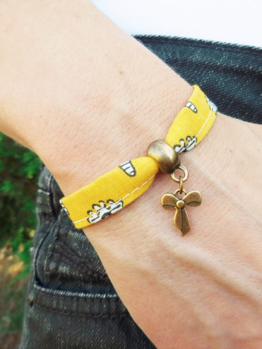 braceletl iberty jaune bohème hippie chic