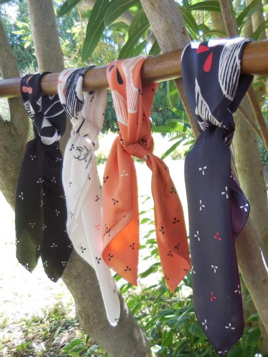 écharpe, carré de soie