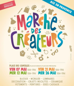 marchés de créateurs Aix en Provence