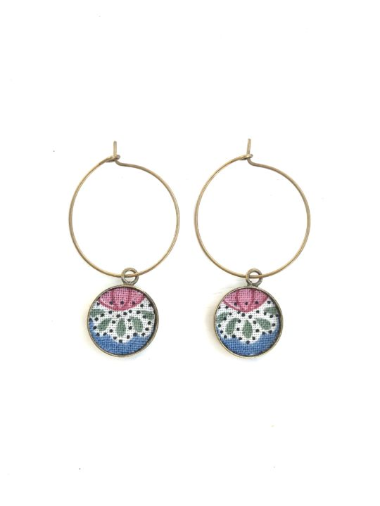 boucles d'oreilles textile made in france