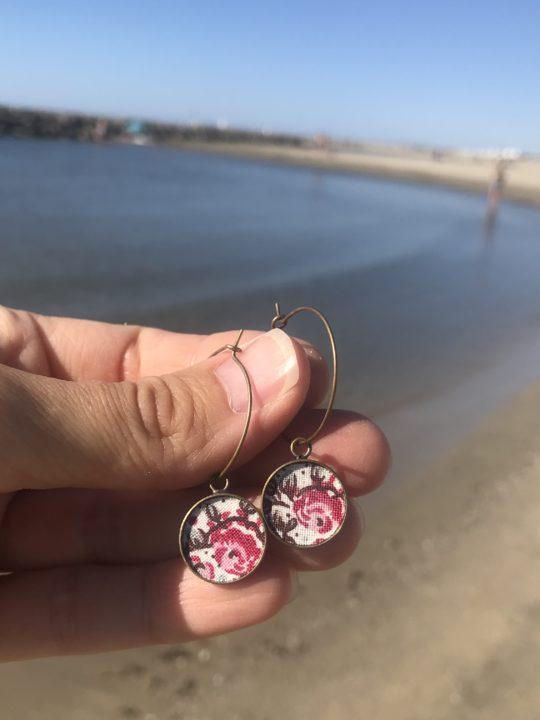Boucles d'oreilles créoles liberty